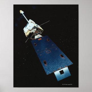 Pintura de un satélite póster
