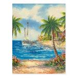 Pintura de un velero en Hawaii Tarjeta Postal