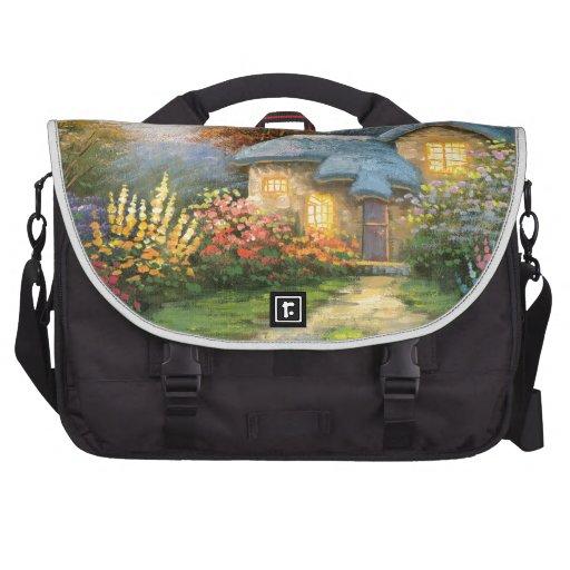 Pintura de una cabaña privada bolsas para portátil