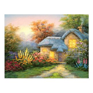 Pintura de una cabaña privada tarjetas postales