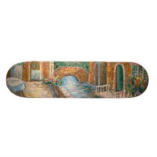 Pintura de una calle de antaño de Venecia Patinetas Personalizadas