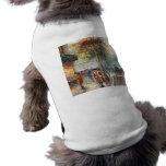 Pintura de una escena de la calle de la caída de l camisas de mascota