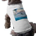Pintura de una gaviota que vuela cerca de un faro camiseta de mascota