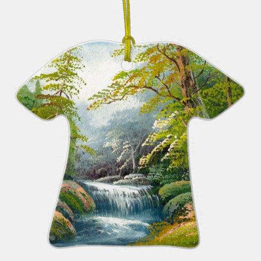 Pintura de una mini cascada adornos