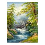 Pintura de una mini cascada postal