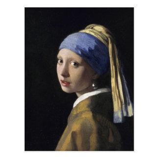 Pintura de Vermeer - chica con un pendiente de la Postales