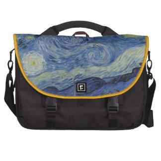 Pintura de Vincent van Gogh de la noche estrellada Bolsas De Portátil