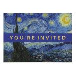 """Pintura de Vincent van Gogh de la noche estrellada Invitación 5"""" X 7"""""""