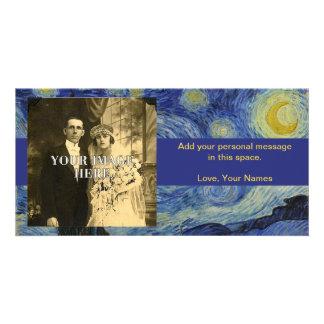 Pintura de Vincent van Gogh de la noche estrellada Plantilla Para Tarjeta De Foto