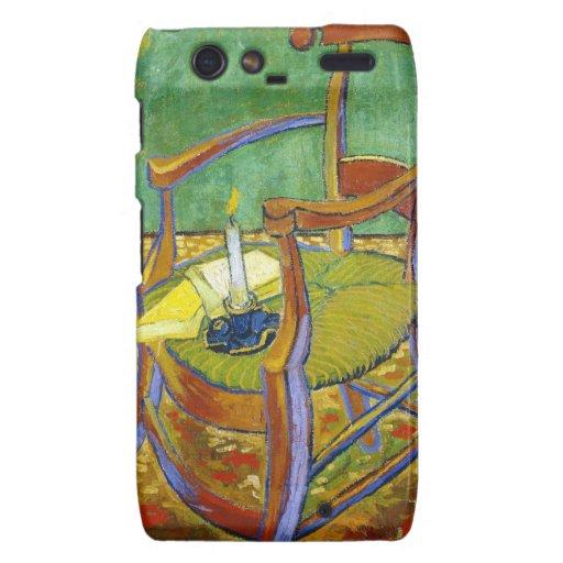 Pintura de Vincent van Gogh de la silla de Gauguin Droid RAZR Carcasa