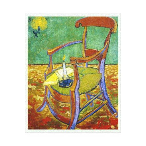 Pintura de Vincent van Gogh de la silla de Gauguin Impresion De Lienzo