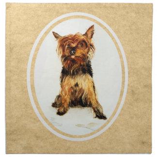 Pintura de Yorkshire Terrier Servilletas De Papel