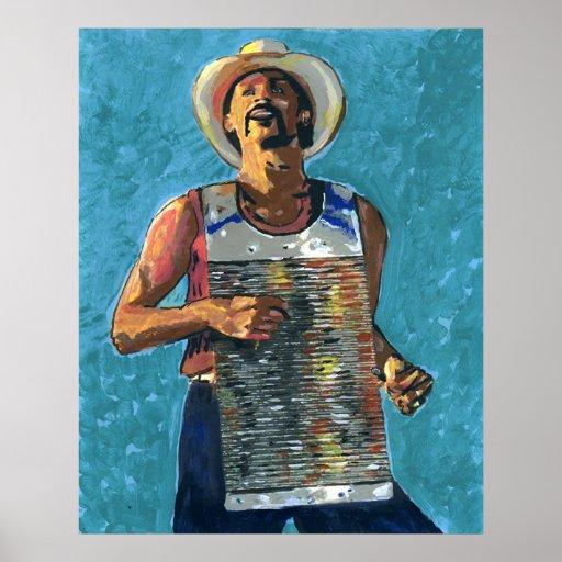 Pintura de Zydeco Joe Impresiones