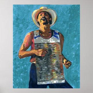 Pintura de Zydeco Joe Póster