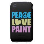 Pintura del amor de la paz iPhone 3 tough cobertura