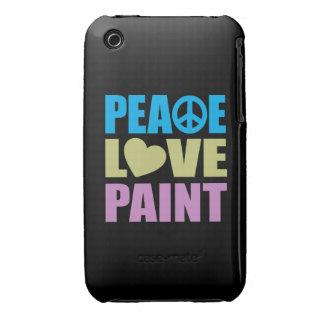 Pintura del amor de la paz iPhone 3 Case-Mate cárcasas