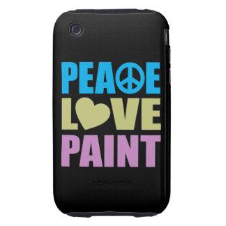 Pintura del amor de la paz tough iPhone 3 carcasas