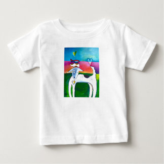 Pintura del amor del mascota playera de bebé