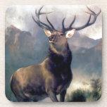 Pintura del animal salvaje de los alces posavasos
