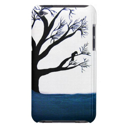 Pintura del árbol barely there iPod protector