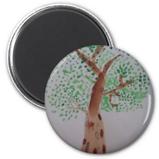 Pintura del árbol de la acuarela imanes de nevera