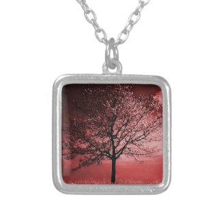 Pintura del árbol de la flor de cerezo - rosa grimpola