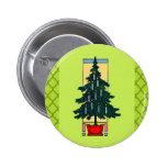 Pintura del árbol de navidad pin