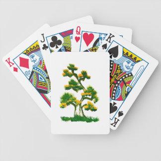 Pintura del árbol por el elefante baraja de cartas