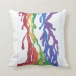 Pintura del arco iris del orgullo almohadas
