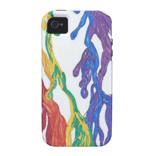 Pintura del arco iris del orgullo iPhone 4 carcasas