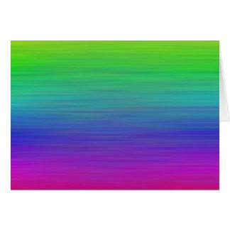 Pintura del arco iris tarjeta de felicitación