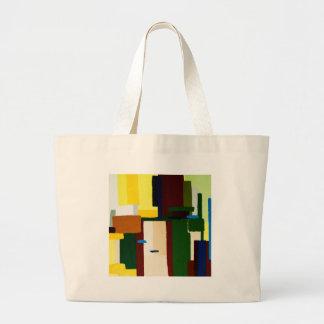 Pintura del arte abstracto bolsa tela grande