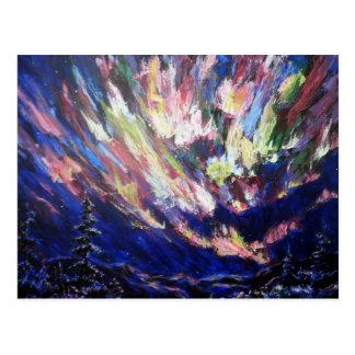 Pintura del arte abstracto de la aurora de la postal