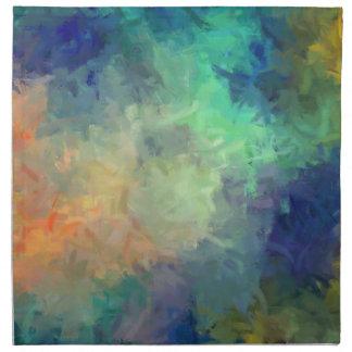 Pintura del arte abstracto servilleta imprimida