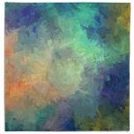 Pintura del arte abstracto servilleta de papel