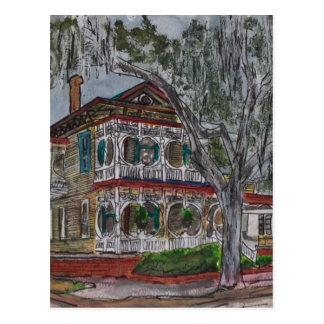 pintura del arte de Georgia de la sabana de la cas Postales