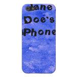 Pintura del arte de la acuarela de los azules añil iPhone 5 protector