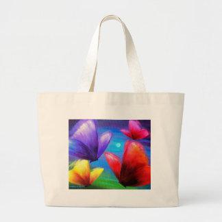 Pintura del arte de la mariposa - multi bolsas