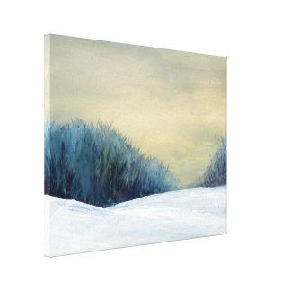 Pintura del arte de la oscuridad del invierno impresiones en lona estiradas