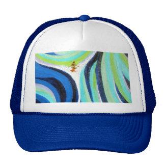 Pintura del arte de la persona que practica surf d gorras