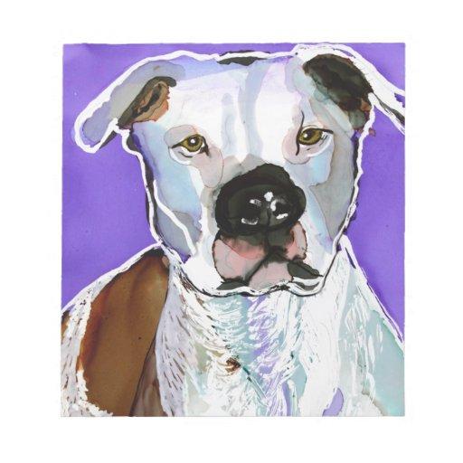 Pintura del arte de la tinta del alcohol del perro libretas para notas