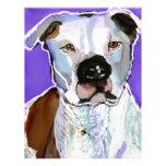 Pintura del arte de la tinta del alcohol del perro membrete