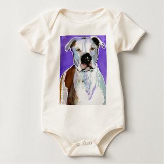 Pintura del arte de la tinta del alcohol del perro trajes de bebé