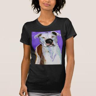 Pintura del arte de la tinta del alcohol del perro t shirt