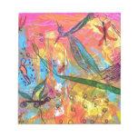 Pintura del arte de los pájaros y de los insectos  bloc de papel
