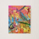 Pintura del arte de los pájaros y de los insectos  puzzles con fotos
