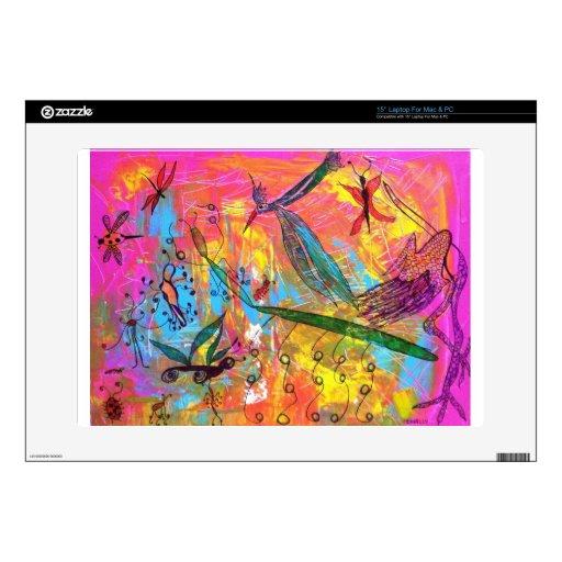 Pintura del arte de los pájaros y de los insectos  portátil calcomanías