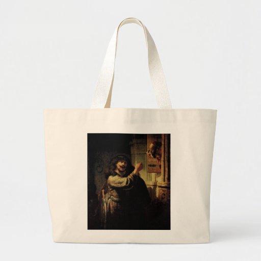 Pintura del arte de Rembrandt Bolsas De Mano