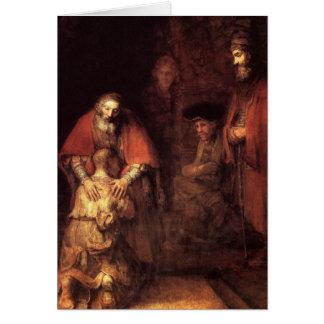 Pintura del arte de Rembrandt Felicitaciones