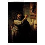 Pintura del arte de Rembrandt Tarjeton